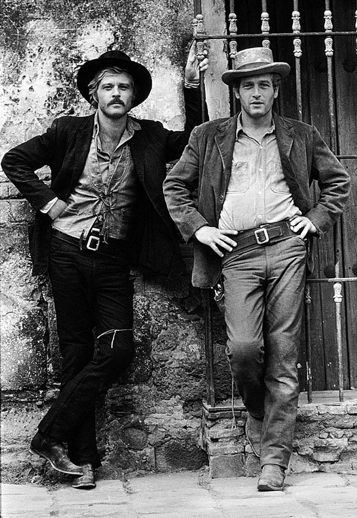 "Robert Redford et Paul Newman dans ""Butch Cassidy et le Kid"" de George Roy Hill."