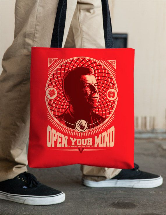 Fringe Walter Bishop Tote Open Your Mind by Vincent Carrozza