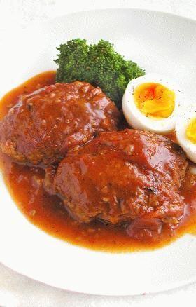 トロトロとした自家製ソースがおいしい~☆ハンバーグもふっくら柔らかくて簡単なのに本格的な味になっちゃいます!