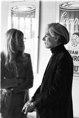 Portrait of Monica Vitti with Andy Warhol by Elisabetta Catalano, 1966