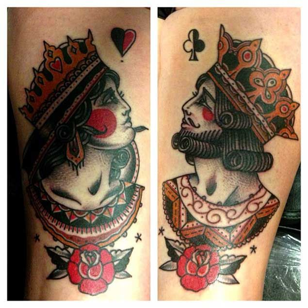 Awesome King and Queen Tattoos
