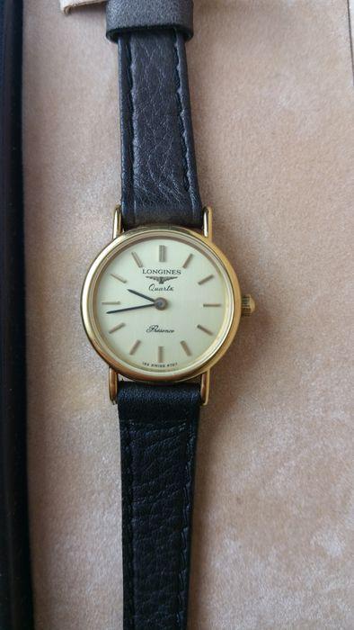 Catawiki Online-Auktionshaus: Longines | Presence 153 swiss 6797- Damenarmbanduhr  -  80er Stil