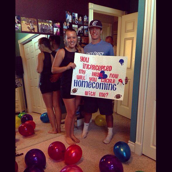 """You intercepted my heart, now will you tackle homecoming with me?"""