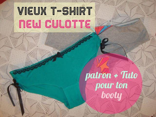 Crafty Bitches - Blog DIY, Couture, Déco, Vintage: Vieux T-shirt, nouvelle culotte ! Tuto + patron dedans