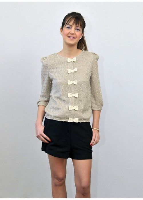 Pepaloves knitted Top with bows.