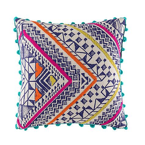 Buy Kas Denka Woven Cotton Cushion, Rust Online at johnlewis.com