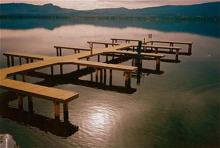 Okanagan Lake Marina built by Burton Marine