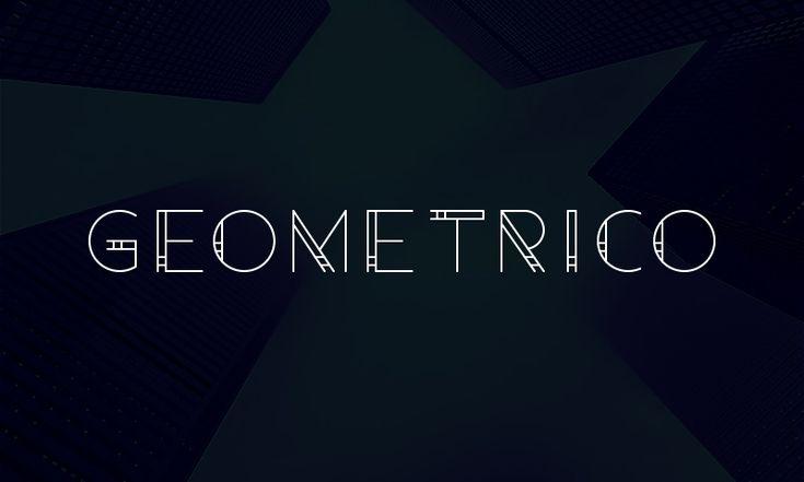 Geometrico Free Font #free #font