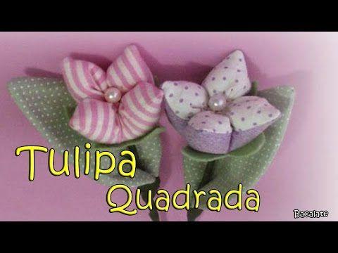 Tulipa com 4 pontas em tecido Passo a Passo -DIY, How to make Fabric Flowers Roses, Tutorial, DIY - YouTube