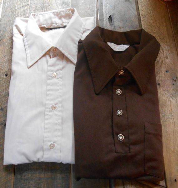 82.42 kr. Set of Two Vintage Mens Shirts by vintagesouthernhome on Etsy