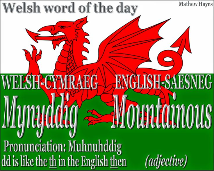 #Welsh word of the day: Mynyddig/ #Mountainous