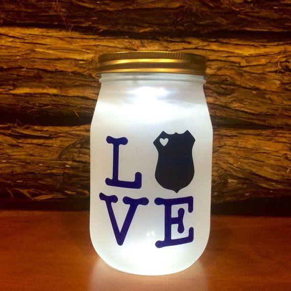 Police LOVE LED light. Custom Police Officer by AmericanaGloriana