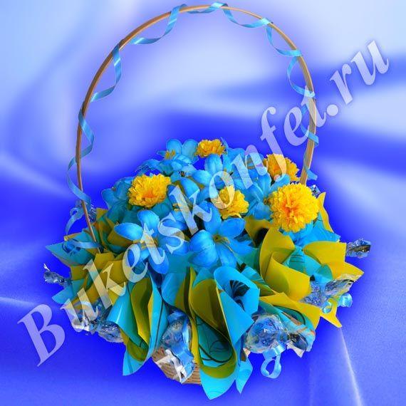БК-040 | Букеты из конфет, игрушек и чая, торты из полотенец и подгузников. Бесплатная доставка по Новосибирску