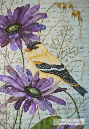 Must go through her site and learn to hand applique her wonderful birds! What a beautiful quilt!