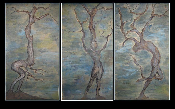 """Growth, Acceptance & Celebration"" by Cholena Drew Hughes Medium - gouche, charcoal, ink, paint pen, watercolour on card Size - 55 x 90 cm"