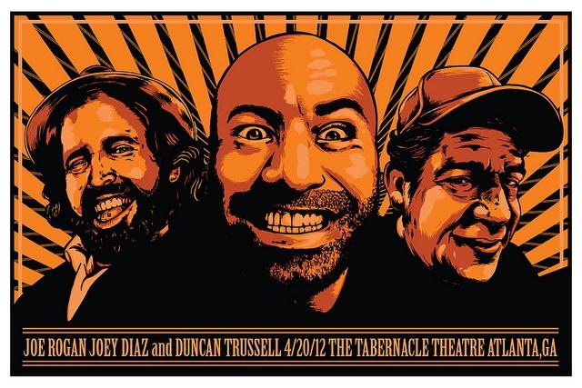 Joe Rogan Joey Diaz Duncan Trussell Atlanta 4/20 show. by Michael James Maxwell, via Flickr