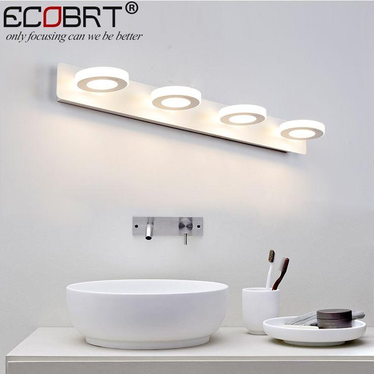 74.99$  Buy now - http://alib20.shopchina.info/go.php?t=32812227362 - ECOBRT Modern bathroom led mirror lights 65cm AC90-260V 12W cosmetic white wall lamps acrylic bathroom lighting indoor  #aliexpresschina
