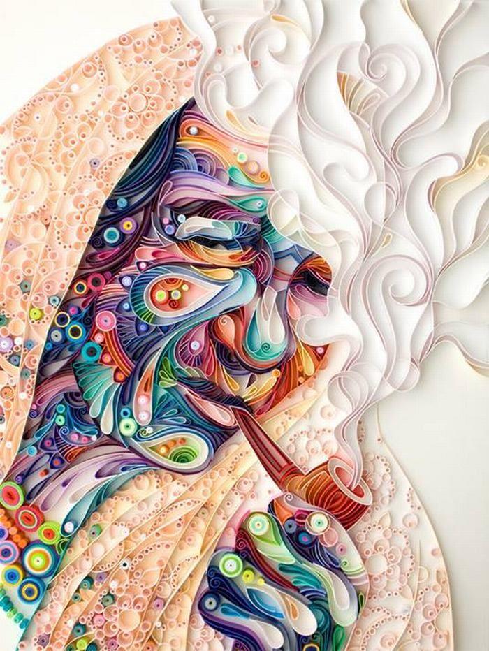 obras de arte quilling JULIA BRODSKAYA