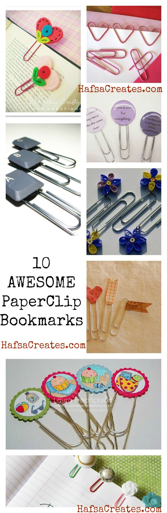 Being a bookworm myself, I have a craze for bookmarks (and I made some  past summer!) Here's a round out of my favourite ones. Click on the image for detailed tutorials …