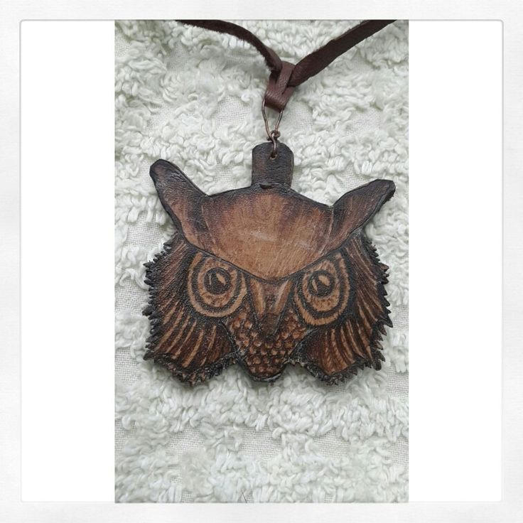 Leather works necklace