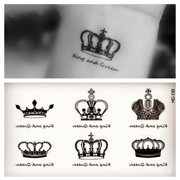 1pcs Small Crown Angel Wings Cat Pattern Temporary Tattoo Stickers Waterproof Women KIds Transferable Colorful Female Tattoos