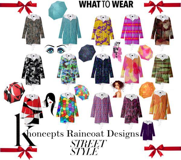 Khoncepts Raincoat designs with matching umbrellas