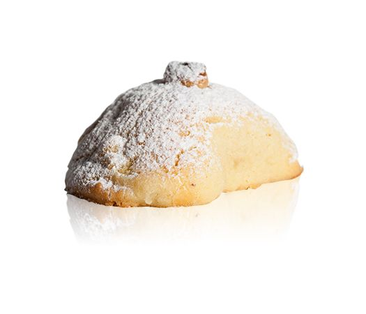 Panzerotti Vaniglia - Shortbread filled with baked vanilla custard and dusted with icing sugar