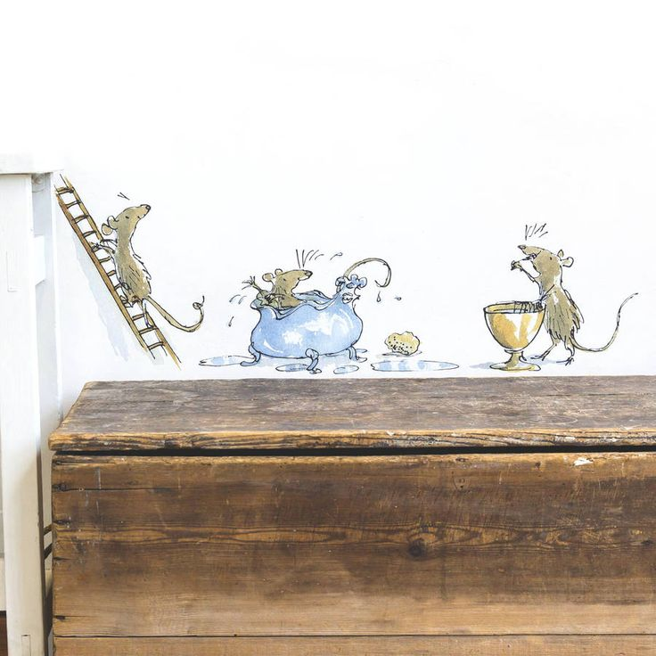 Transform your walls with this splendiferous set of a mouse performing his morning ablutions! Beautifully illustrated by Quentin Blake for Roald Dahl's 'The Witches'.As a young boy, Roald Dahl used to spend every summer holiday with his family in Norway, where he was inspired by bedtime stories of witches and magic. Please see our other products for a full selection of matching official Roald Dahl / Quentin Blake wall stickers.Our fantabulous collection of Roald Dahl / Quentin Blake wall ...