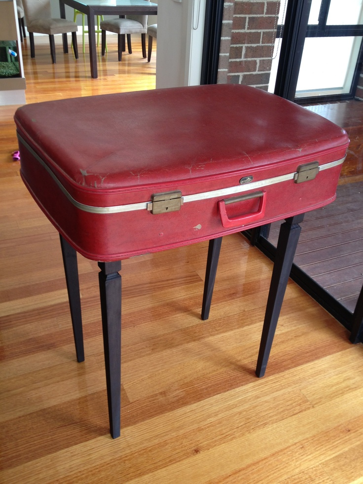 Retro vintage suitcase table!