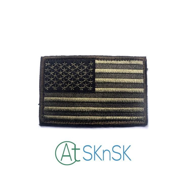 Wholesale American Flag Embroidery Tactical Army Green Morale Patch Armbands Patriotic USA Military tactics Patch for clothes #Affiliate