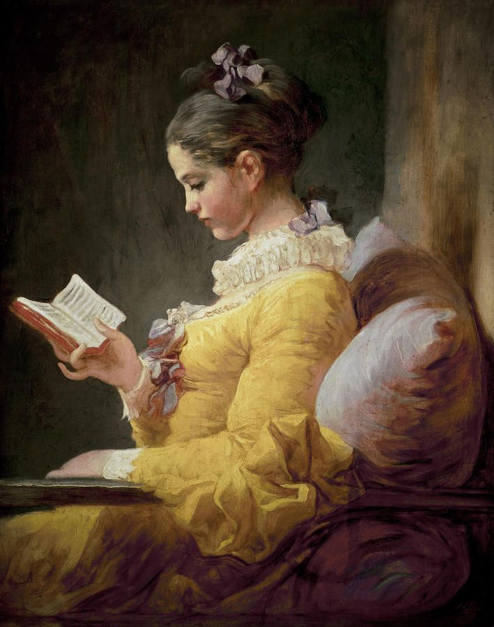 Young Girl Reading. JeanHonore Fragonard :: Daughters reading should be a constant fixture in my home.