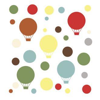 Детские наклейки на стену Skip-Hop Wall Decals Mod Dot Воздушные шарики