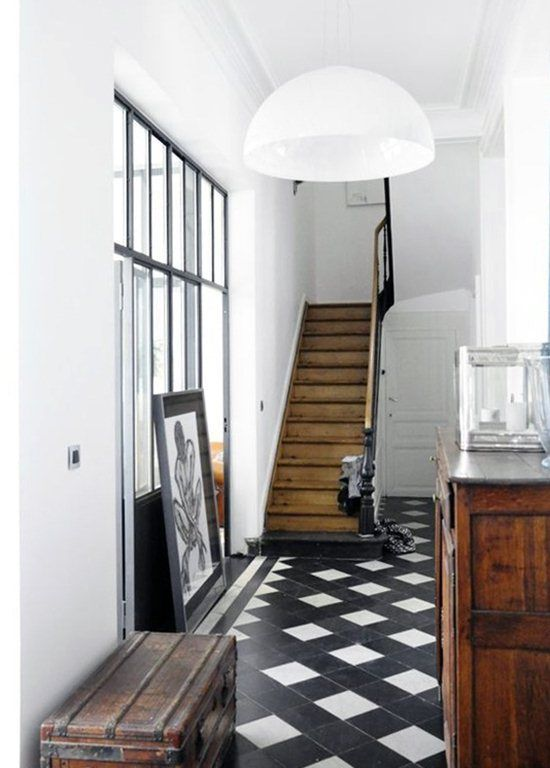 Tiles, print, staircase, textures.... Love it all.