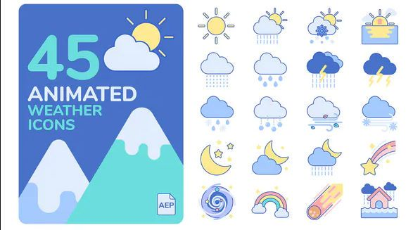 Free animated weather icons