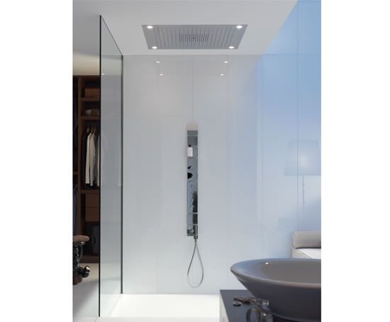plumbing hansgrohe shower heaven designed by philippe. Black Bedroom Furniture Sets. Home Design Ideas