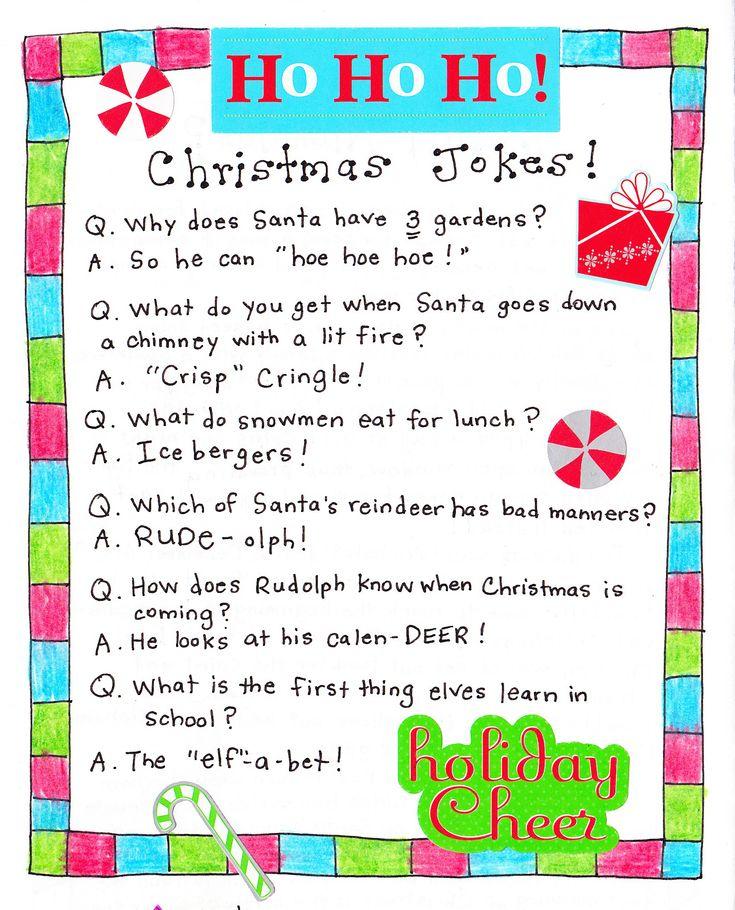 Christmas Jokes (cute for Kids!) Christmas Printables