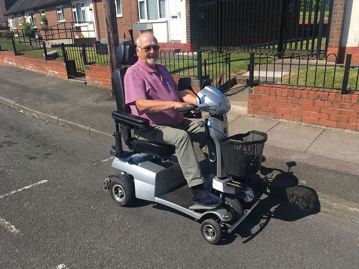 Mr Grocutt picked the Vitess2 mobility scooter find out with a free demo which Quingo is the one for you