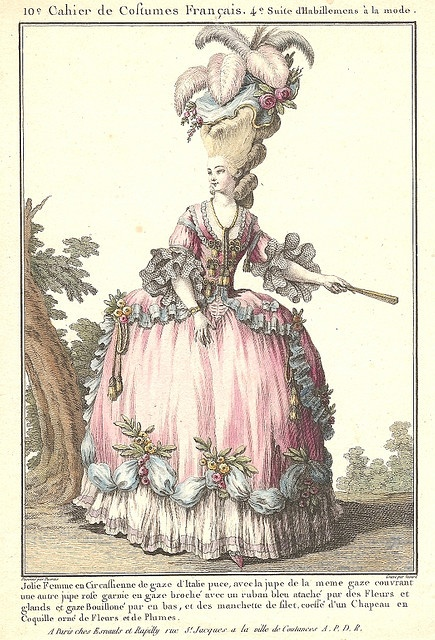 Marie Antoinette with one of her famous extravagant hairdos.