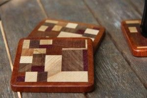 Scrap wood coasters.. neat