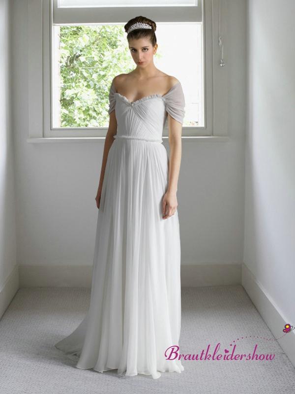 12 best Brautkleid Chiffon images on Pinterest | Short wedding gowns ...