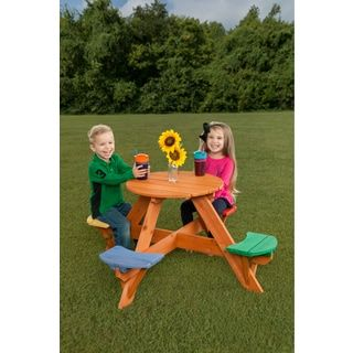 Shop for Kids Round Wooden Picnic Table- Multicolor Seats. Get free delivery at Overstock.com - Your Online Toys & Hobbies Store! Get 5% in rewards with Club O! - 25907762