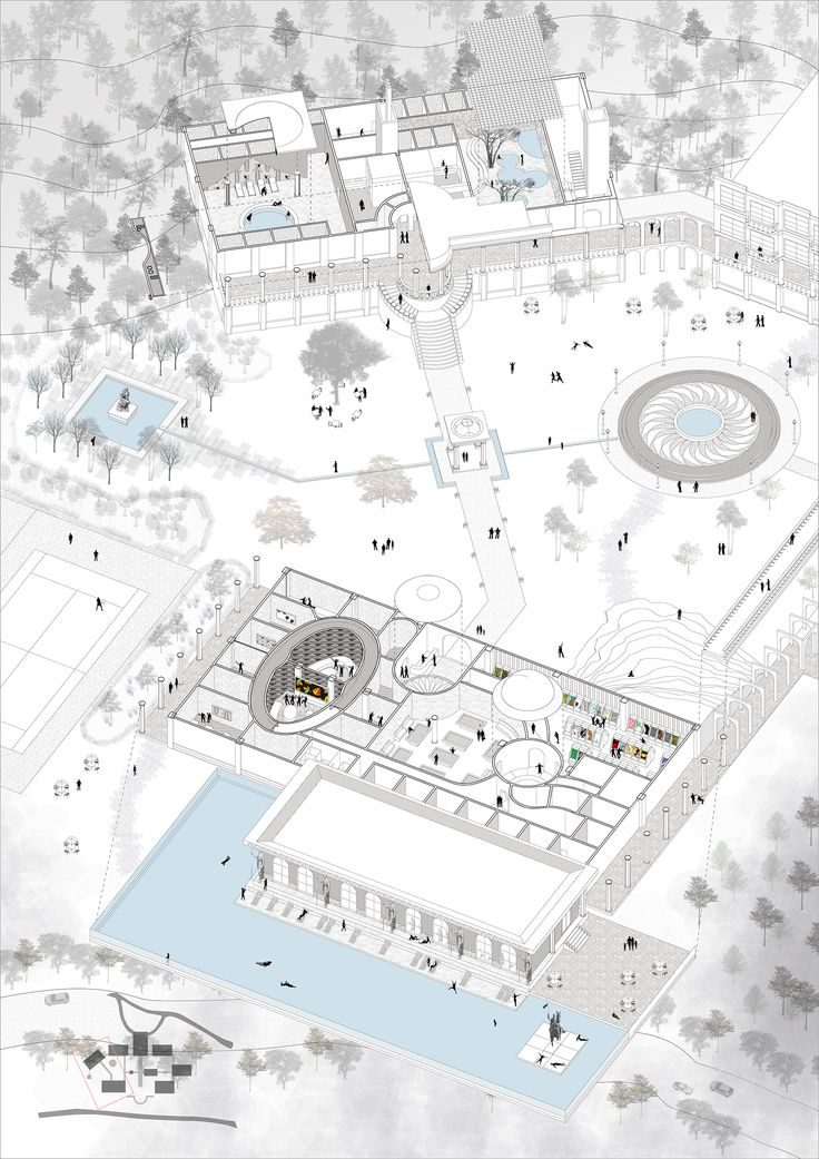 diagram of my hotel design with a few context Orz I love this presentation style but still cant drawing it well =.=