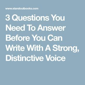 Distinctive voices practice essay questions