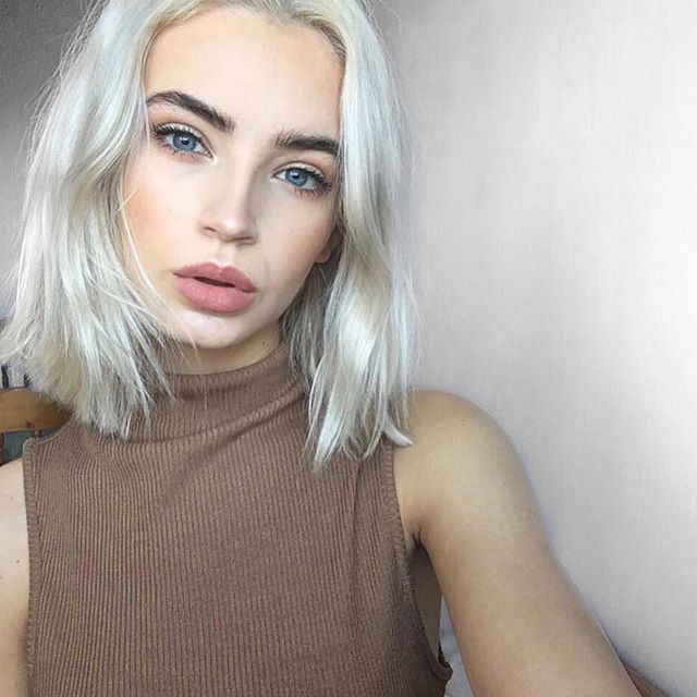 ideas short white hair