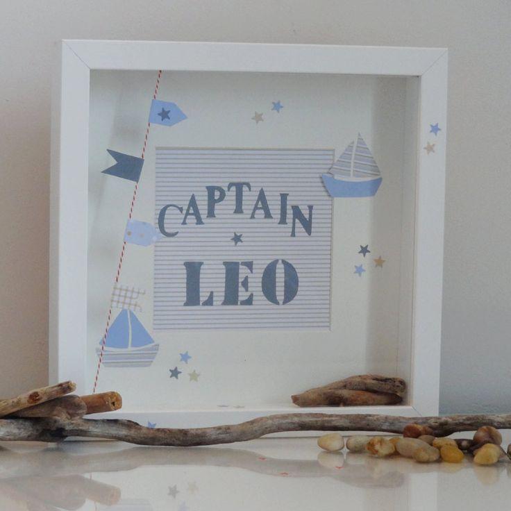 cadre personnalisé...pour Léo. Cadeau de naissance ou d'anniversaire...!! Littlebelette.fr