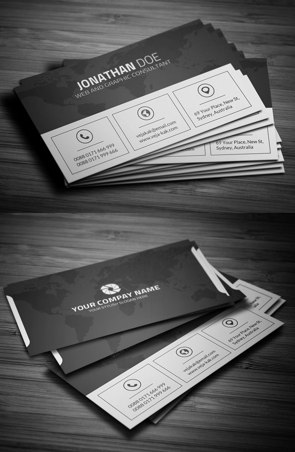 751 best business cards images on pinterest business card design free clean corporate business card reheart Gallery