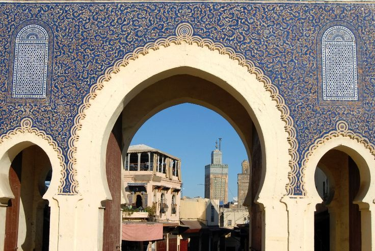Beautiful traditional Moroccan architecture in Rabat (With