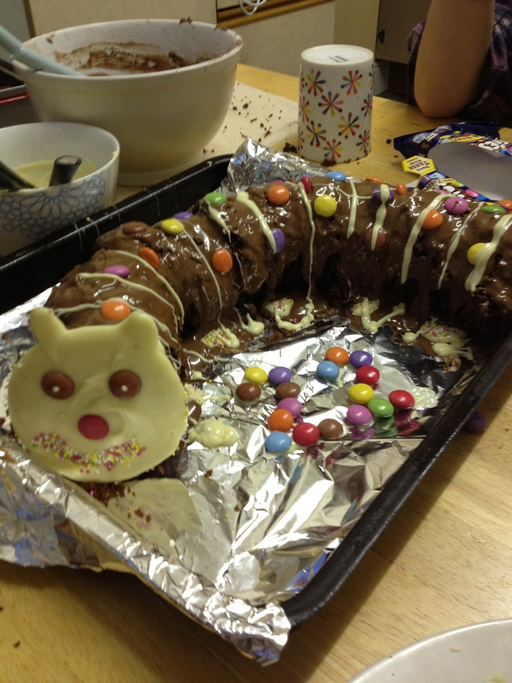 Homemade Colin the Caterpillar Cake
