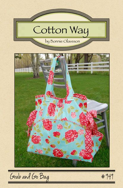 Bag Pattern Diaper Bag Sewing Bag Beach Bag by GabbysQuiltsNSupply, $9.25