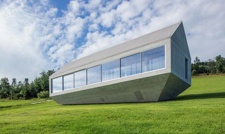 Concrete production is highly energy intensive and contributes as much as 10% of global CO2 emissions. But when it comes to safety and durability, it's hard to beat. That's why KWK Promes' lead architect Robert Konieczny chose this particular material to build his own family home on a hillside in southern Poland. Called Konieczny's Ark, the home is slightly elevated off the landscape, allowing rainwater to follow its intended path.